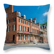 Stephenson's Hotel Throw Pillow by Guy Whiteley