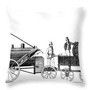 Stephensons Rocket 1829 Throw Pillow