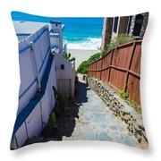 Aliso Creek Beach Access Throw Pillow