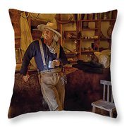 Stepping Back In Time At Bent's Old Fort Throw Pillow