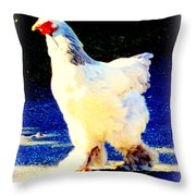 I'm Stepping Forward Out Of The Blue  Throw Pillow