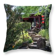 Stepping Into Harmony Throw Pillow
