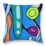 Stepping Into The Sixties Throw Pillow