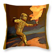 Stepping Into The Unknown Throw Pillow