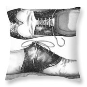 Stepping Out Throw Pillow by Adam Zebediah Joseph