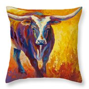 Stepping Out - Longhorn Throw Pillow