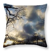 Stepping Over The Sun Throw Pillow