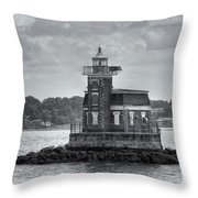 Stepping Stones Lighthouse II Throw Pillow by Clarence Holmes