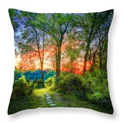 Stepping Stones To The Light Throw Pillow