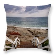 Steps And Pelicans Throw Pillow