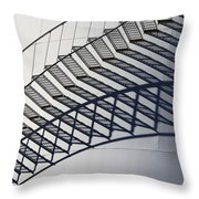 Steps And Shadow On Tank Throw Pillow