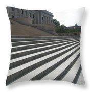Steps Of Justice Throw Pillow