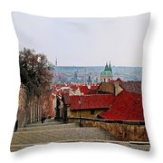 Steps Of Prague Throw Pillow