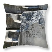 Steps Of The Council House Aphrodisias Throw Pillow
