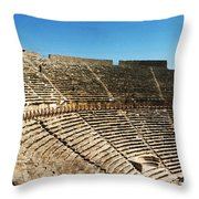 Steps Of The Theatre In The Ruins Throw Pillow