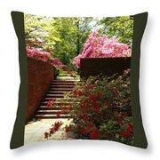 Steps To Azalea Fairyland Throw Pillow