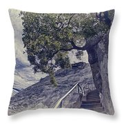 Steps To Beauty On Moro Rock Throw Pillow