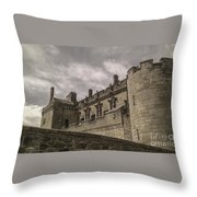 Sterling Castle Scotland Sterling Closed Grey Throw Pillow