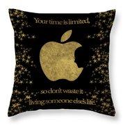 Steve Jobs Quote Original Digital Artwork Throw Pillow