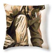 Steve Mcqueen Artwork Throw Pillow by Sheraz A