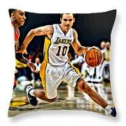 Steve Nash Throw Pillow by Florian Rodarte