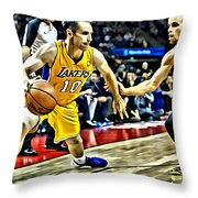 Steve Nash In Action Throw Pillow