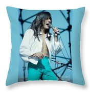 Steve Perry Of Journey At Day On The Green - July 1980 Throw Pillow