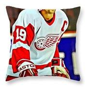 Steve Yzerman Throw Pillow