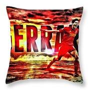 Steven Gerrard Liverpool Symbol Throw Pillow