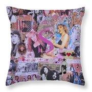 Stevie Nicks Art Collage Throw Pillow