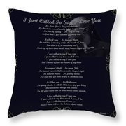 Stevie Wonder Gold Scrolled Called To Say I Love You Throw Pillow