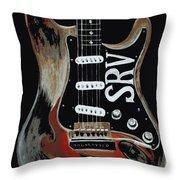Stevie's Guitar Throw Pillow