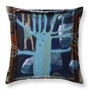 Sticker Tree - Framed Throw Pillow