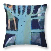Sticker Tree Throw Pillow