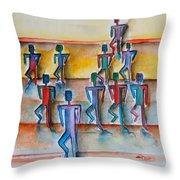 Stickman Performers Throw Pillow
