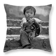 Sticky Boot Monochrome Throw Pillow