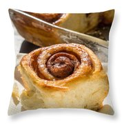 Sticky Cinnamon Buns Throw Pillow