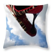 Stilettos Gone Zebra Throw Pillow