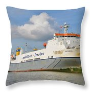 Still A Mighty River Throw Pillow