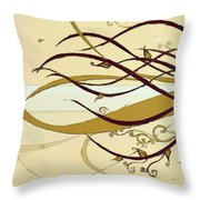 Still Branches Of Life Throw Pillow