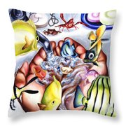 Still Drunk Throw Pillow
