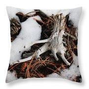 Still In Snow Throw Pillow