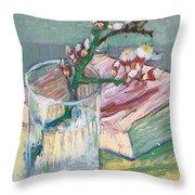 Still Life    A Flowering Almond Branch Throw Pillow