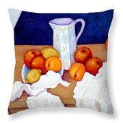 Still Life In Honor Of Cezanne   Throw Pillow