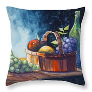Still Life In Watercolours Throw Pillow