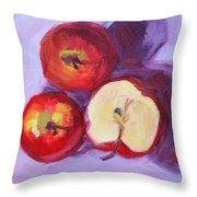 Still Life Kitchen Apple Painting Throw Pillow