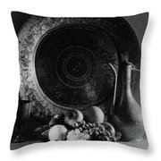 Still Life Of Armenian Plate And Other Throw Pillow