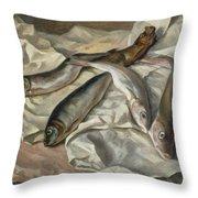Still Life Of Fish, 1928 Throw Pillow