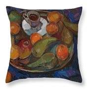 Still Life On A Tray Throw Pillow