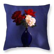 Still Life Red White And Blue Throw Pillow